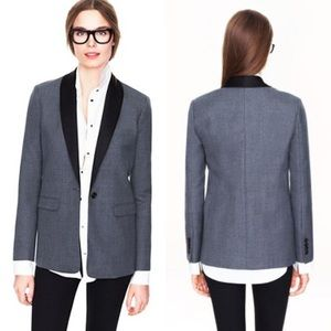 J. Crew Collection Rylan Tuxedo Blazer in Grey